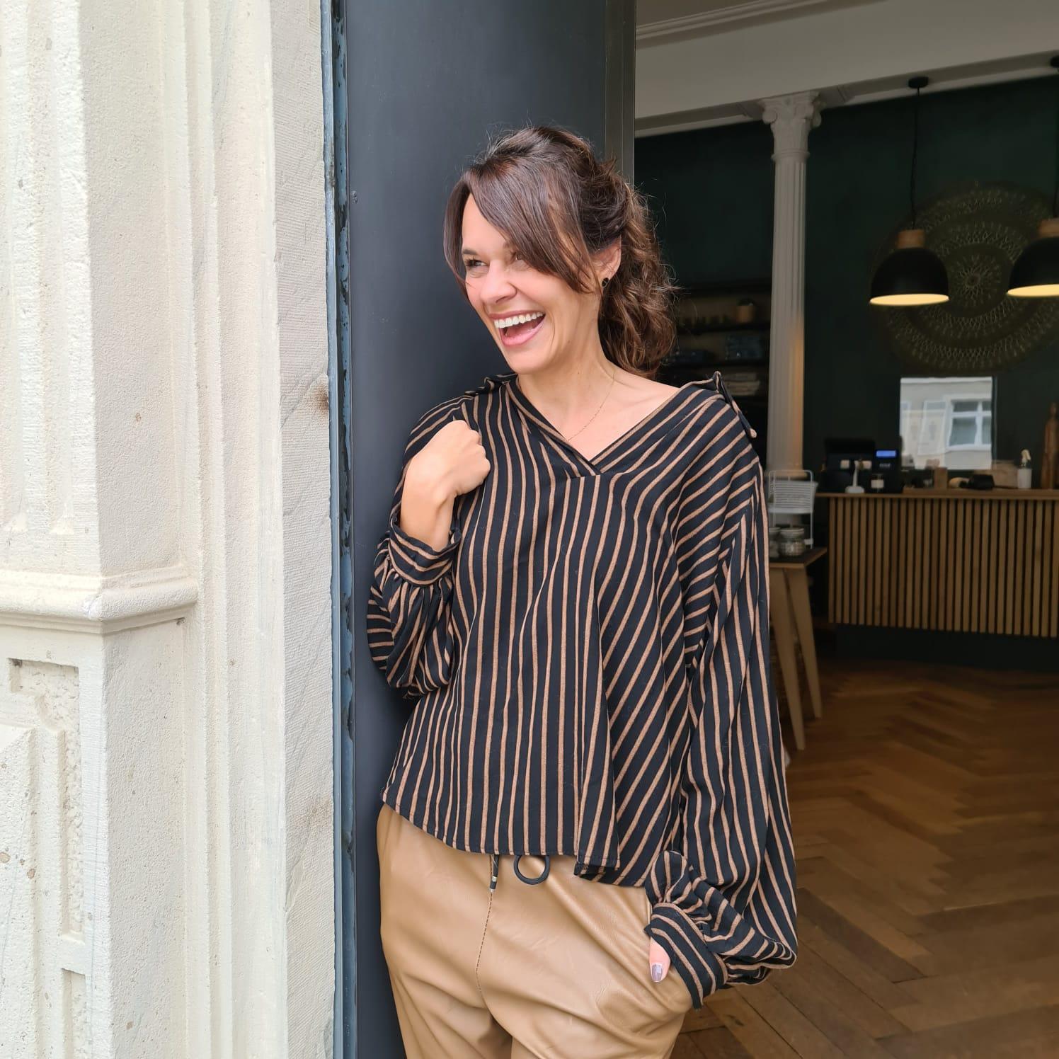 Striped Hemd-Bluse